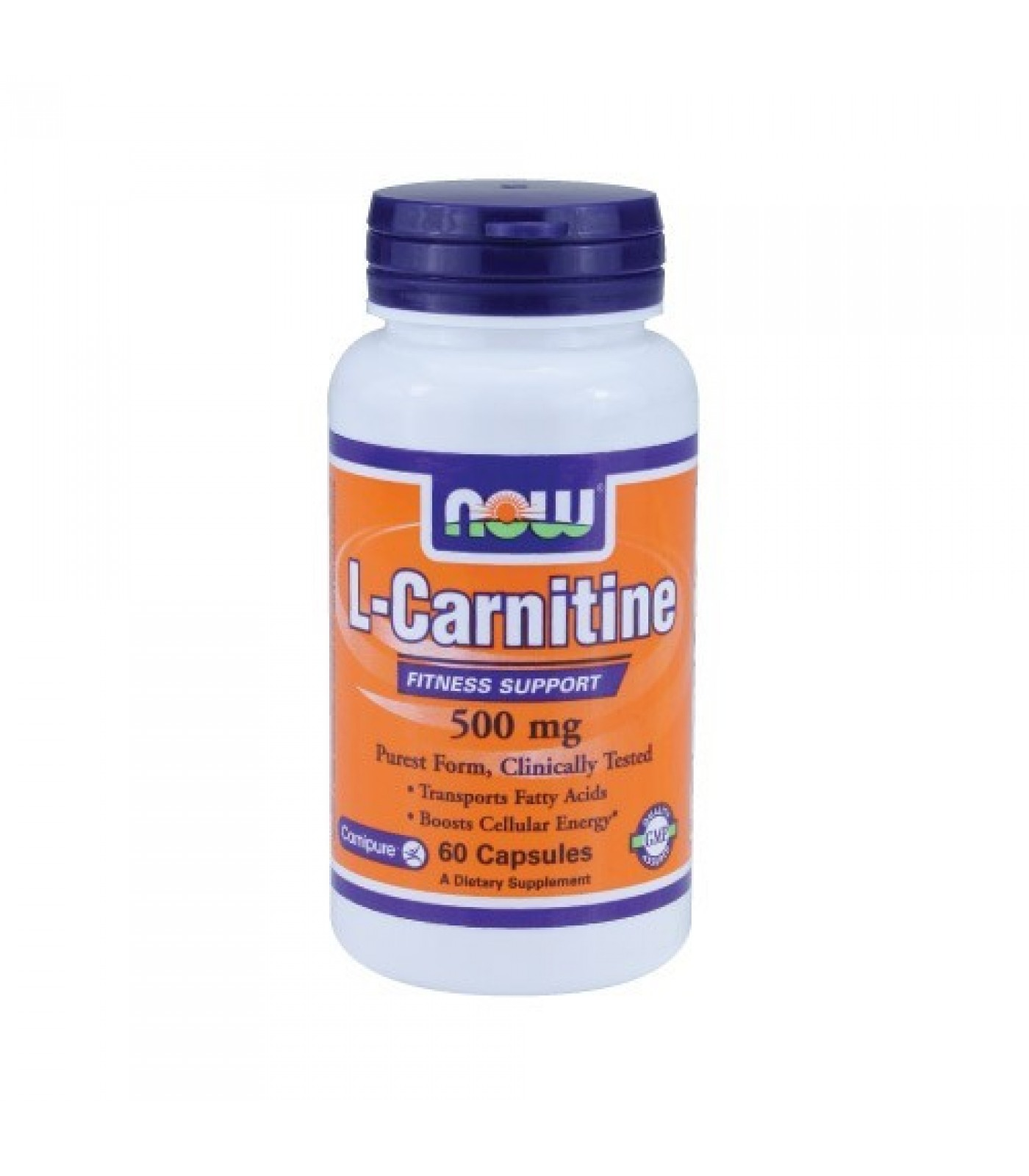 NOW - L-Carnitine 500mg. / 60 VCaps.
