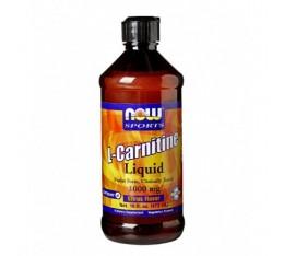 NOW - L-Carnitine Liquid (Citrus) 1000mg. / 473ml. Хранителни добавки, Отслабване, Л-Карнитин