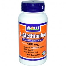 NOW - L-Methionine 500mg. / 100 Caps.