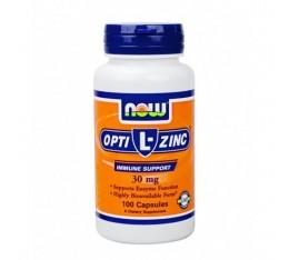 NOW - L-OptiZinc ® 30mg. / 100 Caps. Хранителни добавки, Витамини, минерали и др.