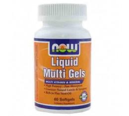 NOW - Liquid Multi Gels / 60 Softgels Хранителни добавки, Витамини, минерали и др., Мултивитамини