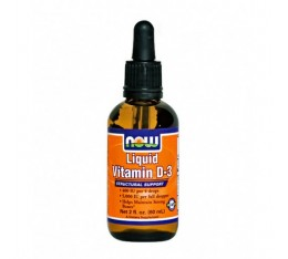 NOW - Liquid Vitamin D-3 / 60 ml.