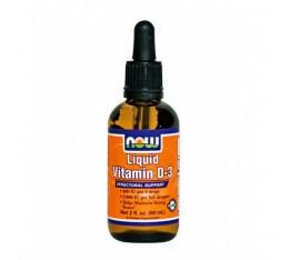 NOW - Liquid Vitamin D-3 / 60 ml. Хранителни добавки, Витамини, минерали и др., Витамин D