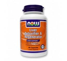 NOW - Liver Detoxifier & Regenerator / 90 Caps. Хранителни добавки, Здраве и тонус