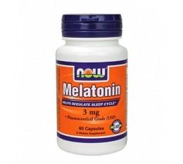 NOW - Melatonin 3mg. / 180 Caps. Хранителни добавки, Здраве и тонус