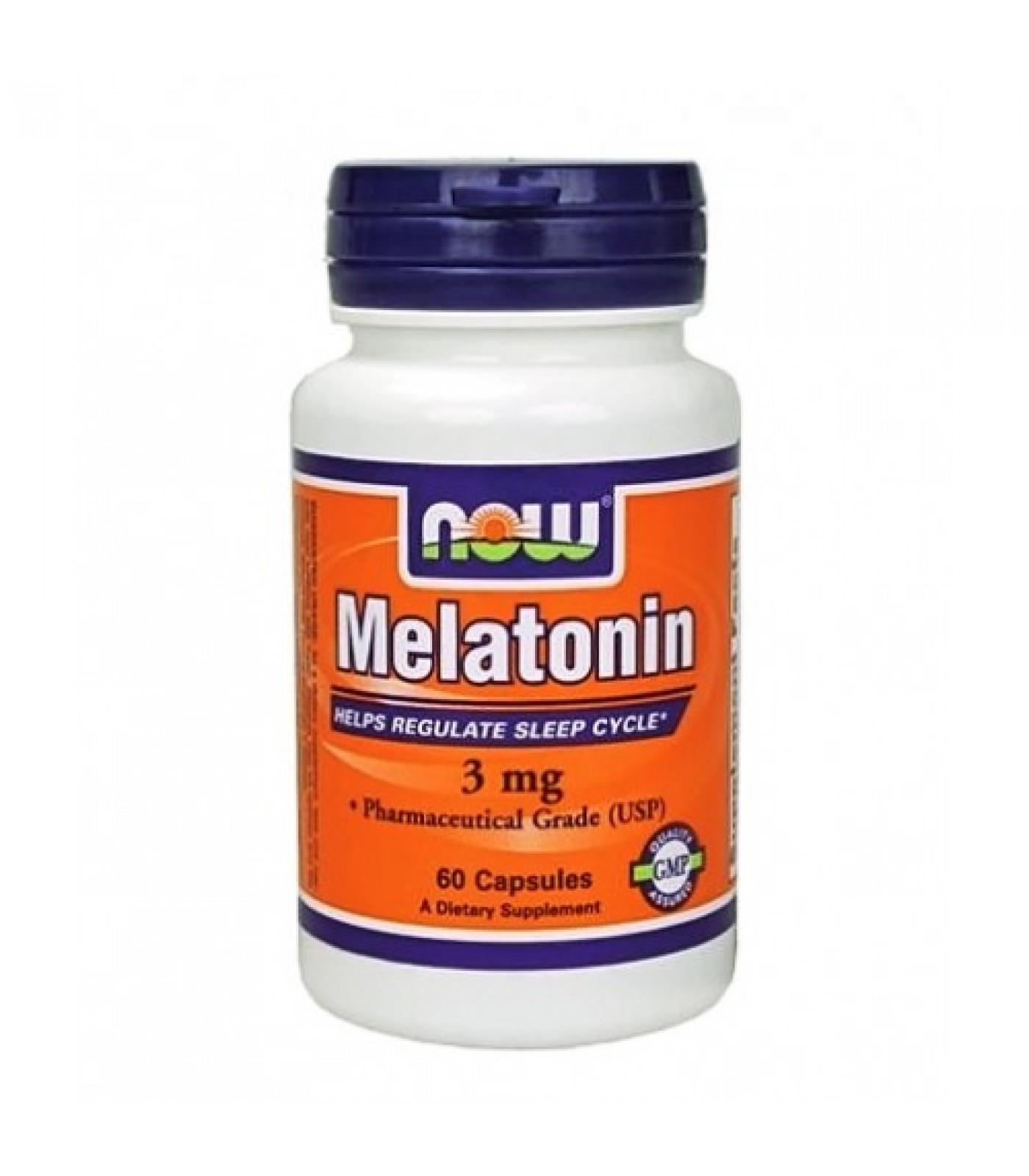 NOW - Melatonin 3mg. / 60 Caps.