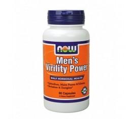 NOW - Men's Virility Power / 60 Caps. Хранителни добавки, Стимулатори за мъже