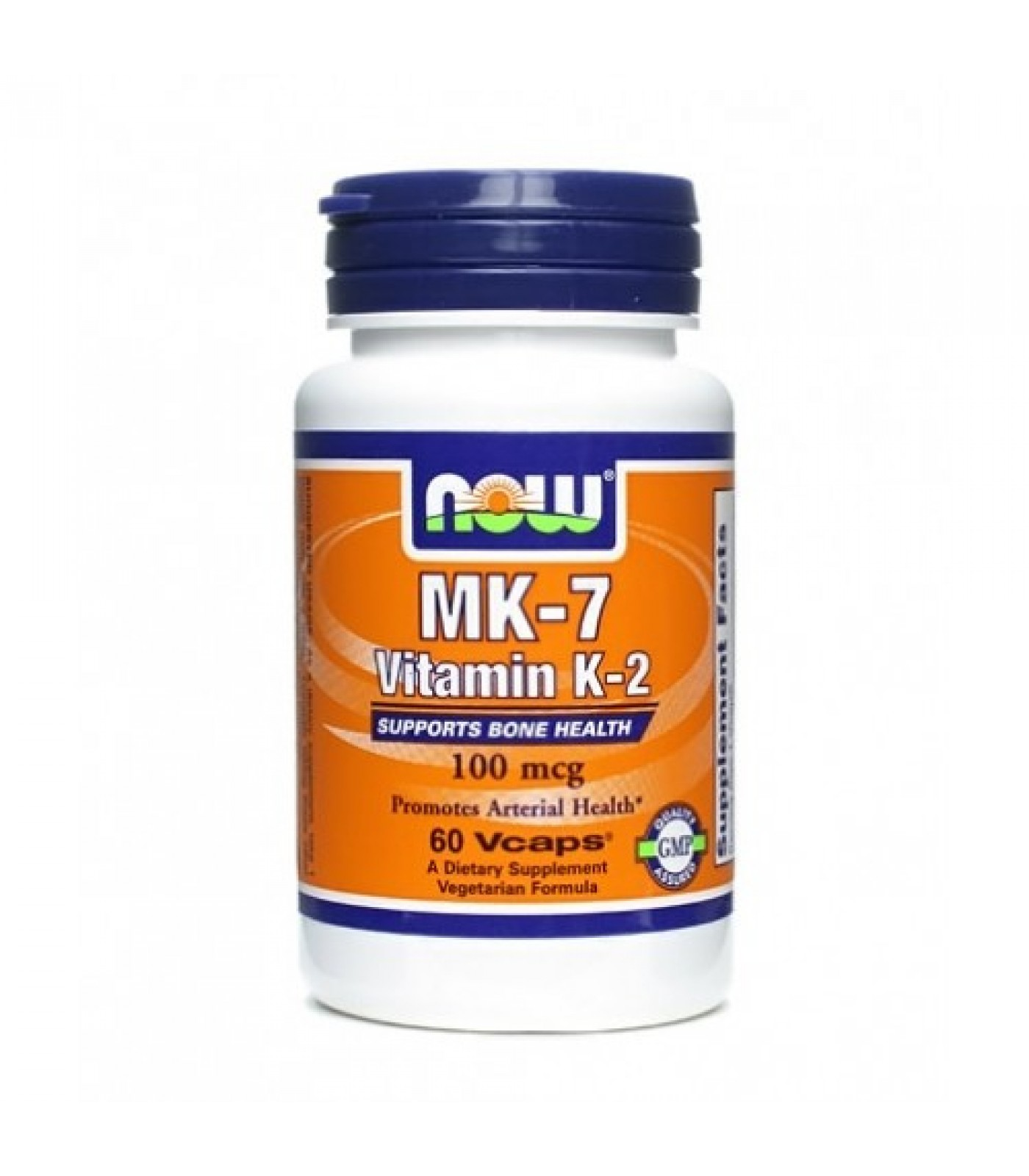 NOW - MK-7 Vitamin K-2 (100mcg.) / 60 VCaps.