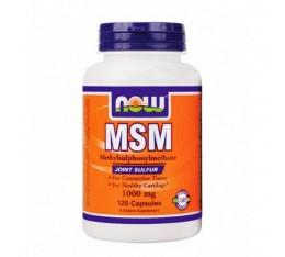 NOW - MSM 1000mg. / 120 Caps. Хранителни добавки, За стави и сухожилия