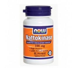 NOW - Nattokinase 100mg. / 60 VCaps. Хранителни добавки, На билкова основа