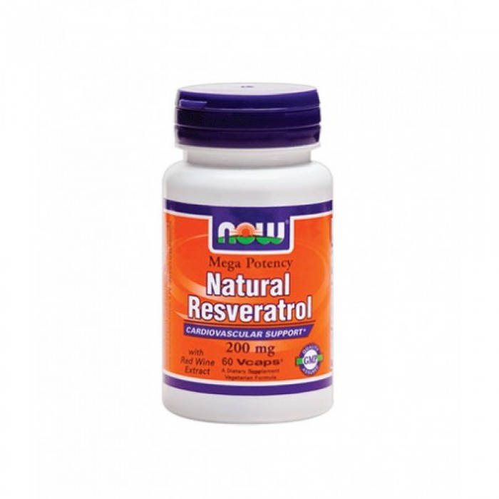 NOW - Natural Resveratrol (Mega Potency) 200mg. / 60 VCaps.