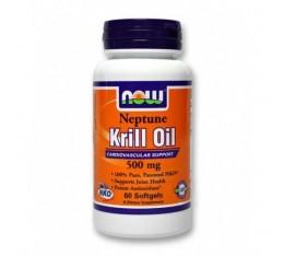 NOW - Neptune Krill Oil 500mg. / 60 Softgels Хранителни добавки, Мастни киселини, Омега 3-6-9