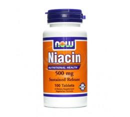 NOW - Niacin 500mg. / 100 Tabs. Хранителни добавки, Витамини, минерали и др., Витамин B