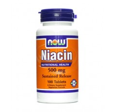 NOW - Niacin 500mg. / 100 Tabs.