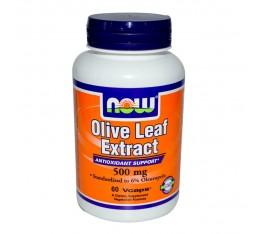 NOW - Olive Leaf Extract 500mg - 60 caps.  Хранителни добавки, Здраве и тонус