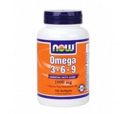 NOW - Omega 3-6-9 1000mg. / 100 Softgels Хранителни добавки, Мастни киселини, Омега 3-6-9