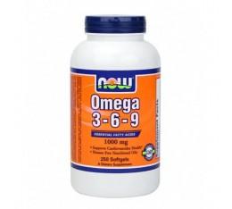 NOW - Omega 3-6-9 1000mg. / 250 Softgels Хранителни добавки, Мастни киселини, Омега 3-6-9