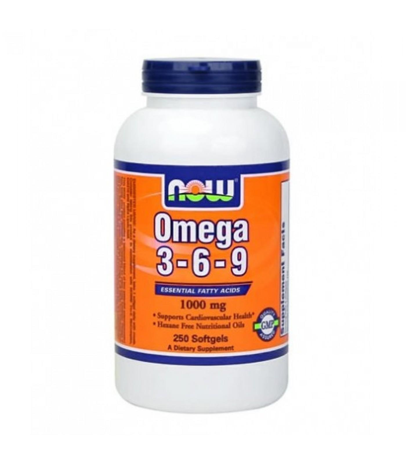 NOW - Omega 3-6-9 1000mg. / 250 Softgels