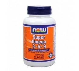 NOW - Super Omega 3-6-9 1200mg. / 90 Softgels Хранителни добавки, Мастни киселини, Омега 3-6-9