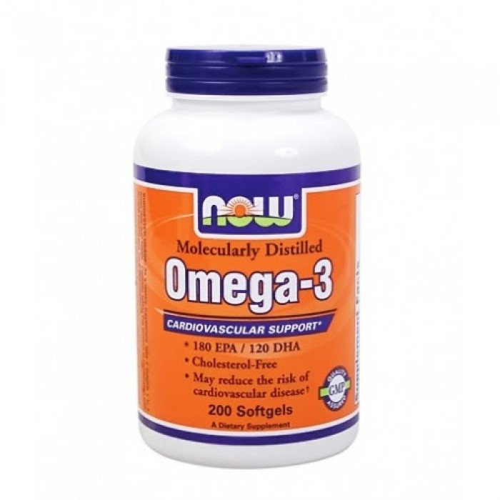 NOW - Omega 3 Fish Oil 1000 mg. / 200 Softgels