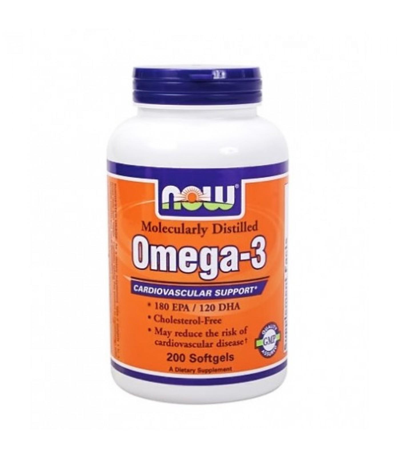 NOW - Omega 3 Fish Oil 1000 mg. / 200 Softgels