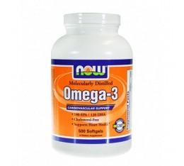 NOW - Omega 3 Fish Oil 1000 mg. / 500 Softgels Хранителни добавки, Мастни киселини, Рибено масло