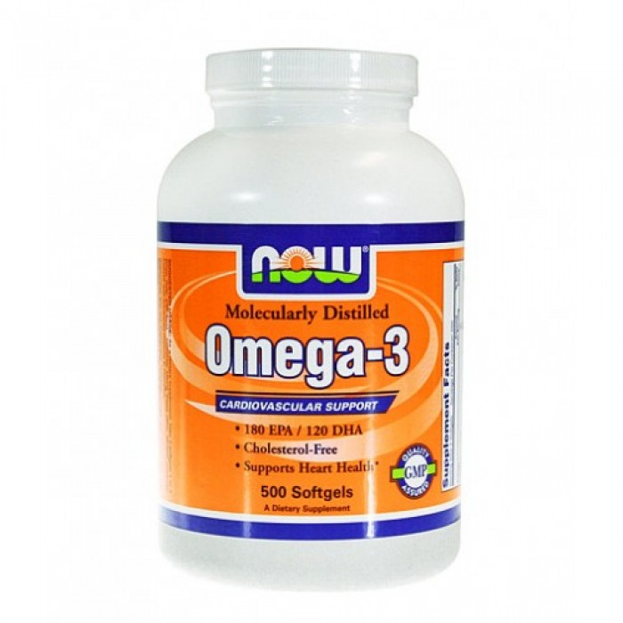 NOW - Omega 3 Fish Oil 1000 mg. / 500 Softgels