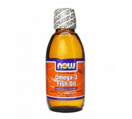 NOW - Omega 3 Fish Oil Liquid / 500 ml. Хранителни добавки, Мастни киселини, Рибено масло