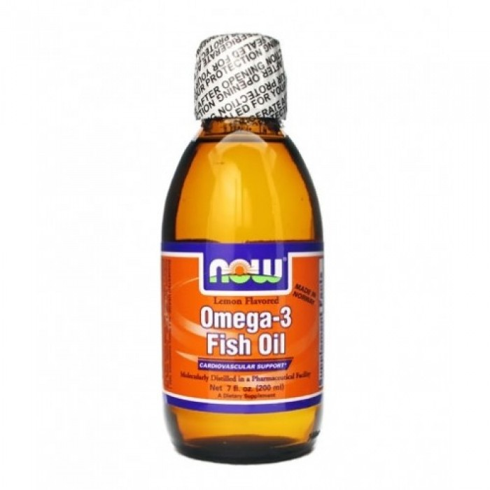 NOW - Omega 3 Fish Oil Liquid / 500 ml.