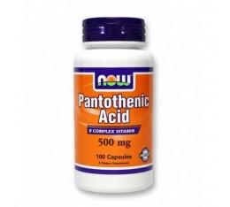NOW - Pantothenic Acid 500mg. / 100 Caps. Хранителни добавки, Витамини, минерали и др., Витамин B