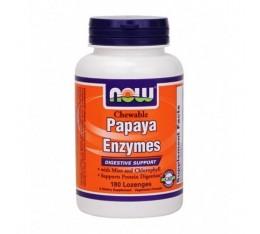 NOW - Papaya Enzymes / 180 Loz. Хранителни добавки, Здраве и тонус, Ензими