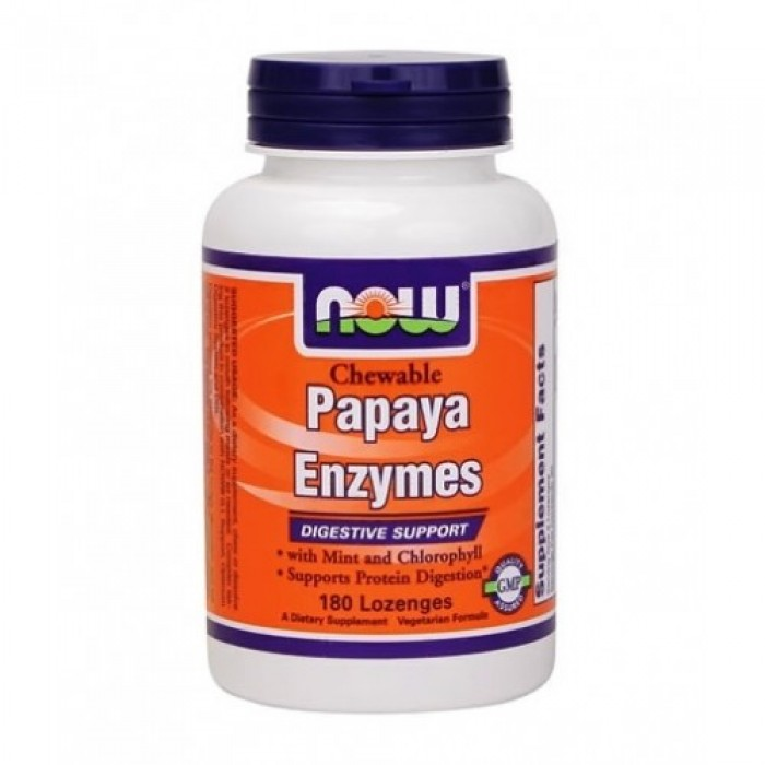 NOW - Papaya Enzymes / 180 Loz.