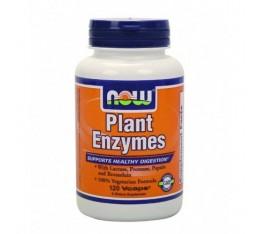 NOW - Plant Enzymes / 120 VCaps. Хранителни добавки, На билкова основа
