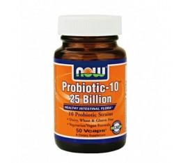 NOW - Probiotic-10 ™ (25 Billion) / 50 VCaps. Хранителни добавки, Витамини, минерали и др.