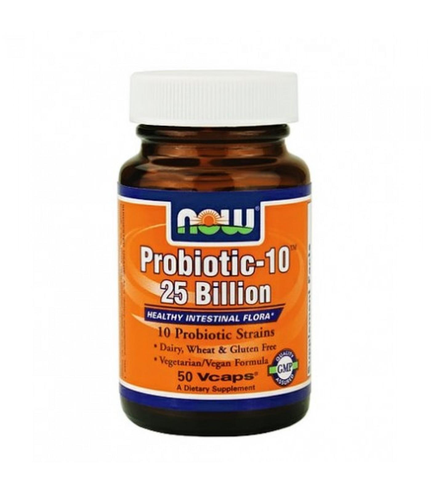 NOW - Probiotic-10 ™ (25 Billion) / 100 VCaps.