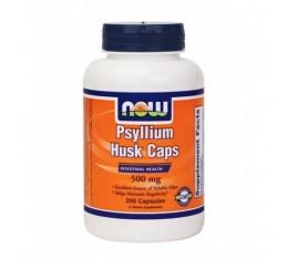 NOW - Psyllium Husk 500mg. / 200 Caps. Хранителни добавки, На билкова основа