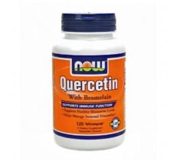 NOW - Quercetin with Bromelain / 120 VCaps. Хранителни добавки, Антиоксиданти, Кверцетин