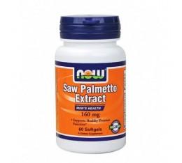 NOW - Saw Palmetto Extract 160mg. / 60 Softgels. Хранителни добавки, На билкова основа