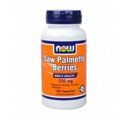 NOW - Saw Palmetto 550mg. / 100 Caps. Хранителни добавки, На билкова основа