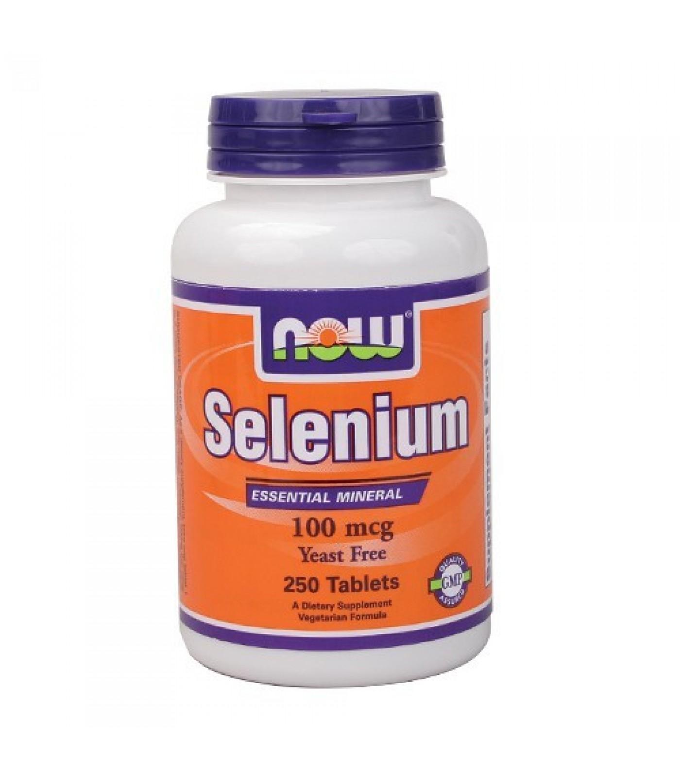 NOW - Selenium (Yeast Free) 100mcg. / 250 Tabs.