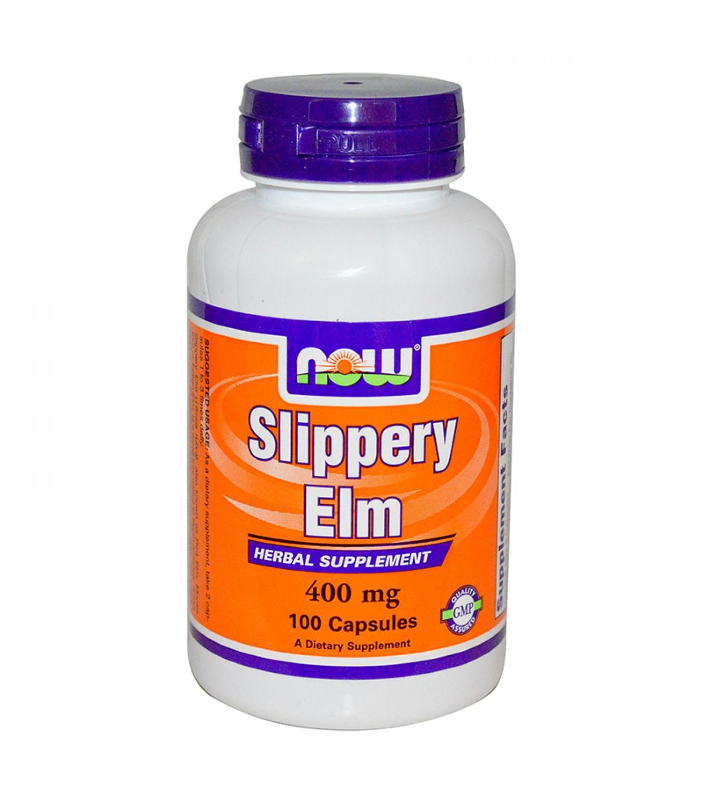 NOW - Slippery Elm 400mg (Хлъзгав Бряст) - 100caps.