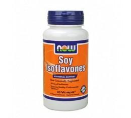 NOW - Soy Isoflavones (Non-GE) 150mg. / 60 VCaps. Хранителни добавки, Здраве и тонус