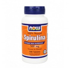NOW - Spirulina 500mg. / 100 Tabs.