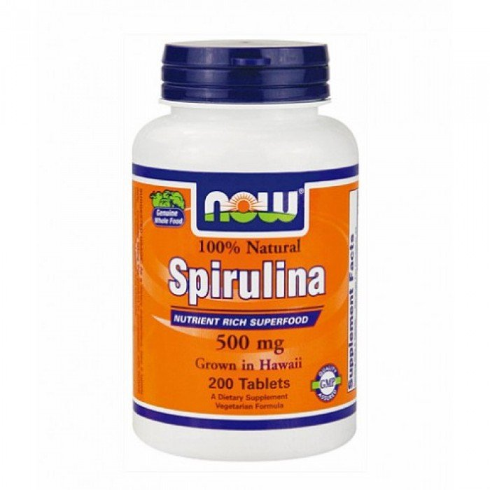 NOW - Spirulina 500mg. / 200 Tabs.