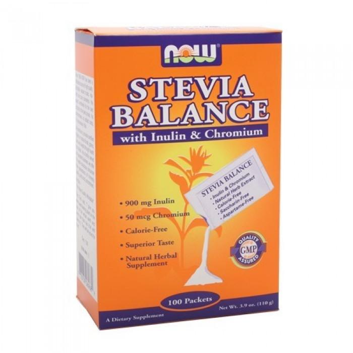 NOW - Stevia Balance with Inulin & Chromium / 100 Packs