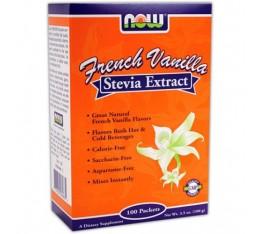 NOW - Stevia Extract (French Vanilla) / 100 Packs. Хранителни добавки, Естествени подсладители, На билкова основа