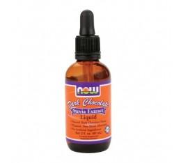 NOW - Stevia Liquid (Dark Chocolate) / 57 ml.  Хранителни добавки, Естествени подсладители, На билкова основа