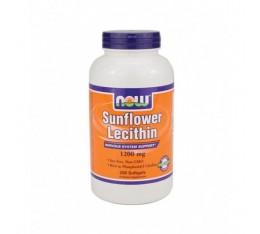 NOW - Sunflower Lecithin (Non-GMO) 1200mg. / 200 Softgels Хранителни добавки, Мастни киселини, Лецитин
