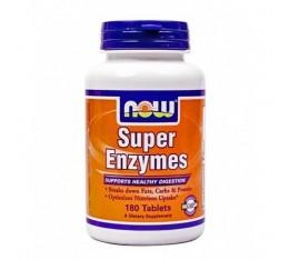 NOW - Super Enzymes / 180 Tabs. Хранителни добавки, Здраве и тонус, Ензими