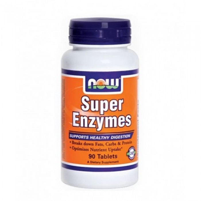 NOW - Super Enzymes / 90 Tabs.